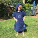Hood Guise Kids hooded beach Towel Navy XS Octopus