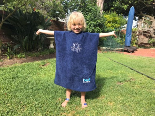 Hood Guise Kids hooded beach Towel Navy XS dolphin